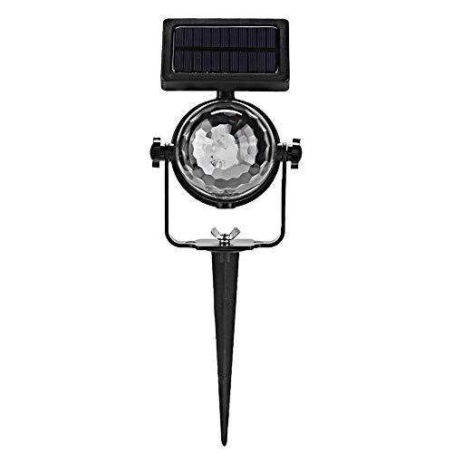 MOH Proyector de luz al Aire Libre Impermeable Panel Solar Festival LED Lámpara de proyector de Foco de Hadas para Fiesta de Navidad