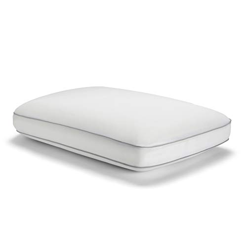 Sealy Essentials Cool & Comfort Reversible Cooling Pillow, Memory Foam, Standard/Queen, White