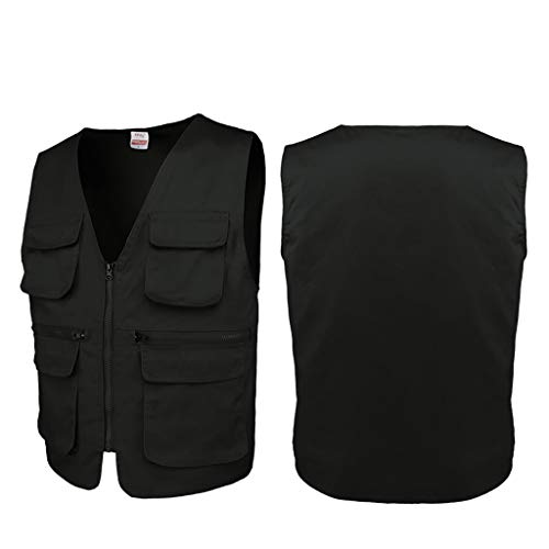 JSY Camera vest multi-pocket werkkleding algemeen welzijn vrijwilligers vest reclame overalls Bodywarmers (Color : A3, Size : XL)