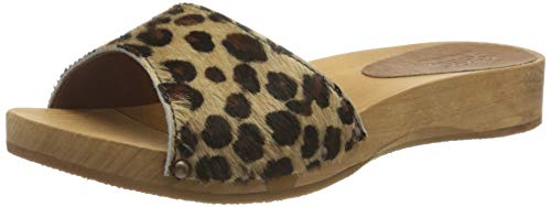 Sanita Damen Camma Low Flex Sandale Pantoletten, Mehrfarbig (Leopard 87), 38 EU