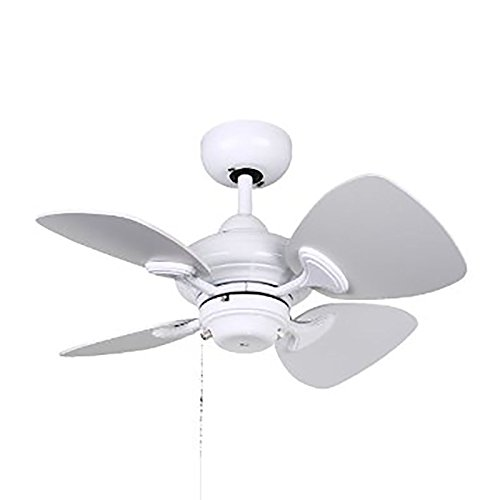 Kendal Lighting AC16324-WH   Aries 24-Inch 4-Blade Ceiling Fan, White Finish and White Blades
