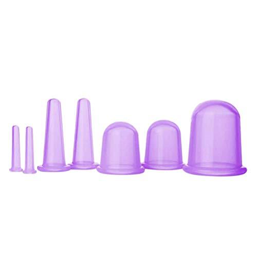 MILISTEN 7Pcs Conjunto de Ventosas Taza de Ventosas de Silicona Cara Cuerpo Ventosas Masaje Herramienta de Belleza Cuidado de La Salud Dispositivo para Lavanda Higroscópica Anticelulítica