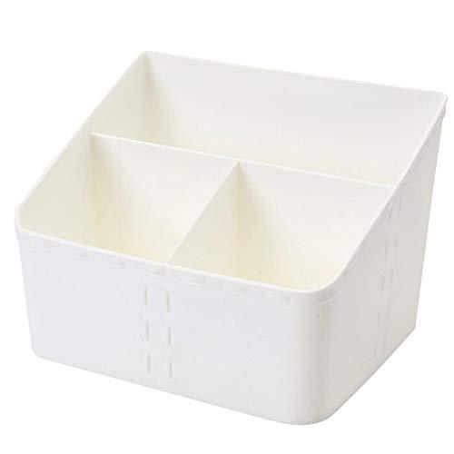 Kcakek Transparant cosmetische opbergdoos eenvoudige desktop staan witte stof make-up tegen tafel ladekast kast afwerking cosmetische afwerking plank opbergdoos cosmetica (Size : Style 2)