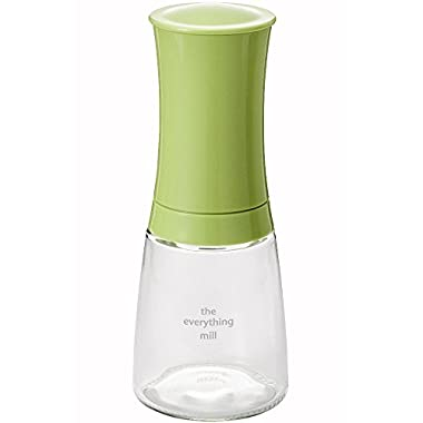 Kyocera Advanced Ceramics Pepper, Salt, Seed and Spice Mill with Adjustable Advanced Ceramic Grinder, The Everything Mill-Apple Green