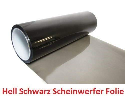 Scheinwerfer Folie Hellschwarz 100x30cm Tönungsfolie Nebelscheinwerfer Rückleuchten Vorderleuchten (12€ pro m²)