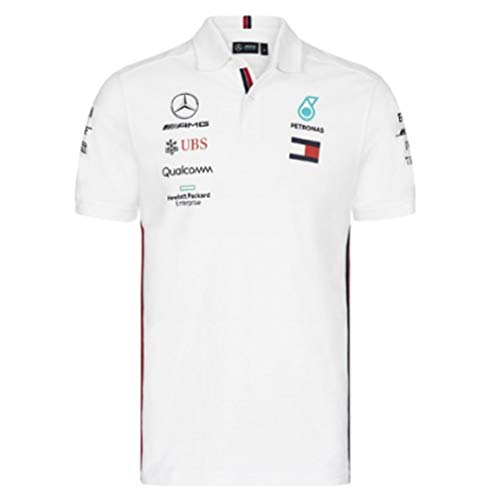 Official Formula One Merchandise   Offizielle Mercedes-AMG Petronas Motorsport 2019 F1™   Team Polo Shirt   Farbe: Weiß   Größe: XS
