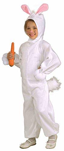 Forum Novelties Kids Fleece Bunny Rabbit Costume, Small, One Color