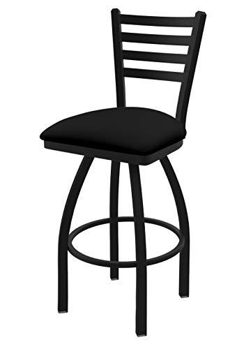 "Holland Bar Stool Co. 41036BWBlkVinyl 410 Jackie Swivel Bar Stool, 36"" Seat Height, Black Vinyl"