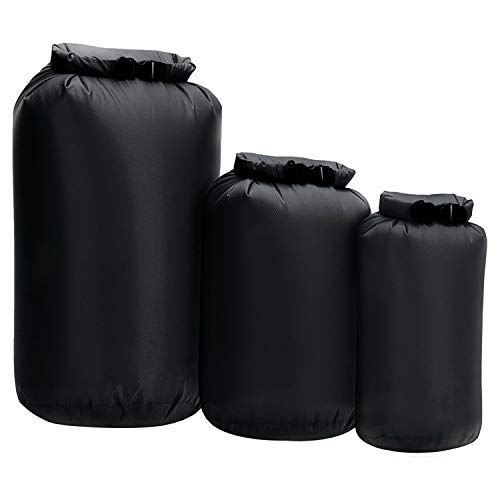 Dry Bag 3-Pack - 8L 40L 70L Boat Dry Sacks Waterproof Dry Bags Set Ultra Lightweight Waterproof Bags - Diamond Ripstop Roll-Top Doat Drybag Sacks for Kayaking Upstream Drifting Rafting Hiking