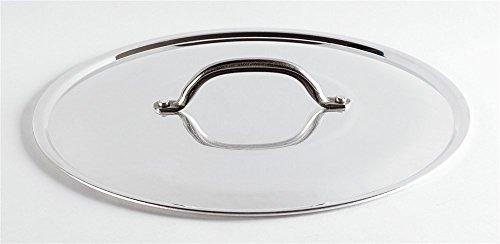Pentole Agnelli PCMX02924 Coperchio con Ponticello in Acciaio, Alluminio Lucido, 24 cm