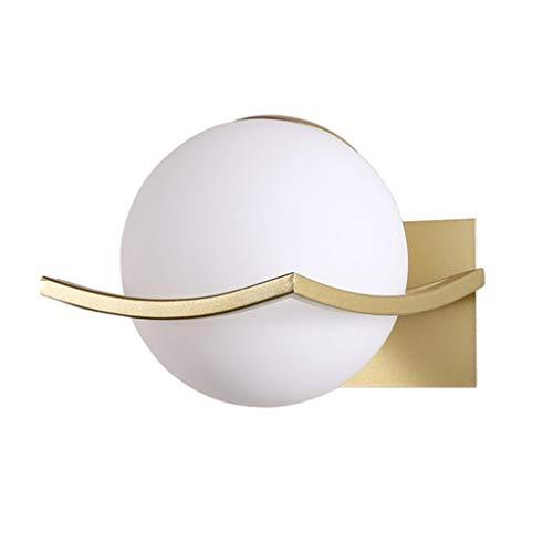 Apliques de pared Luz de pared nórdica moderna E27 LED de la lámpara de pared de la bola de cristal Baño Dormitorio de noche American Retro Corredor escalera decoración de iluminación lámpara de pared
