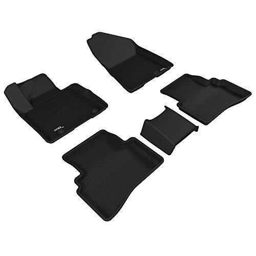 3D MAXpider para Kia Sportage 2017-2020, Sin Manta de Cinturón de Seguridad, Aptas para Todas Las Condiciones Climáticas, Alfombrillas de Goma de Coche (Juego de Alfombras, Color Negro)