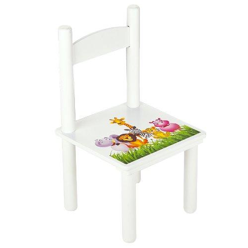 Leomark Table et 2 chaises Table Pour Enfants Petit Bureau Couleur Blanc avec Motif...