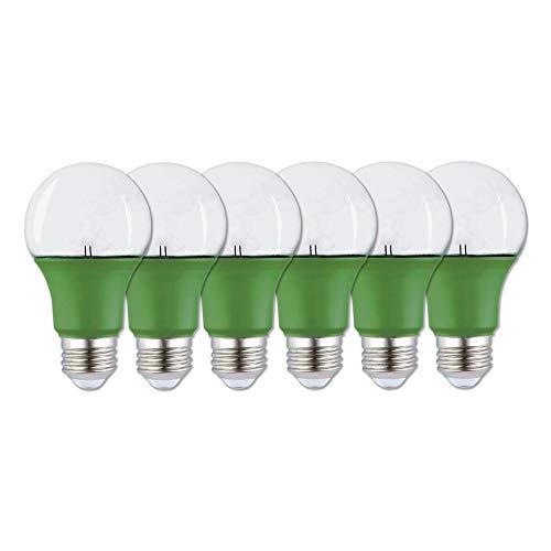 Westinghouse Lighting 5181020 9 (60-Watt Equivalent) A19 LED Light, Medium Base (6 Pack) Commercial Grow Bulbs, Green