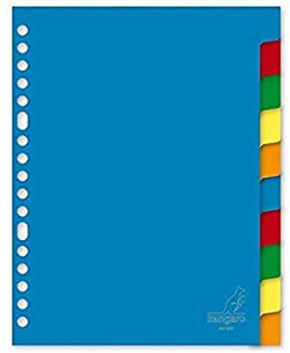Register Kangaro A5 blanko PP 120 micron 17r. 10tlg sortiert Tabs