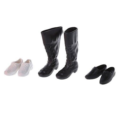 LyGuy 3 Arten Kombination Höcker Schuhe Leder Schuhe Stiefel Zubehör für Ken Doll Kombi-Schuhe