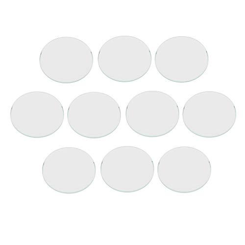 FITYLE 10pcs Diámetro 16-33mm Ronda Clara Plana Reloj Cristal Cristal Espesor 1mm - 27