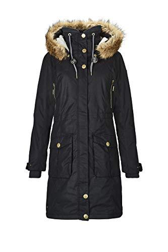 G.I.G.A. DX Damen Dokama Funktionsjacke/Parka/Winter Mantel Mit Abknöpfbarer Kapuze, Wassersäule 8000 Mm, schwarz, 38