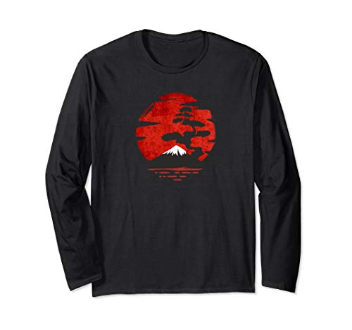 Japanese Bonsai Tree Long Sleeve Shirt Japanese Bonsai Art