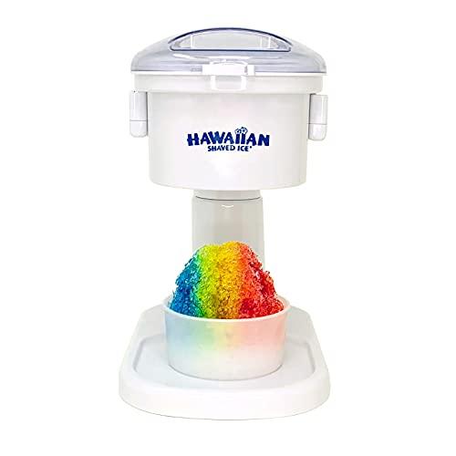 Hawaiian Shaved Ice Kid-Friendly Snow Cone Machine, 120V, White