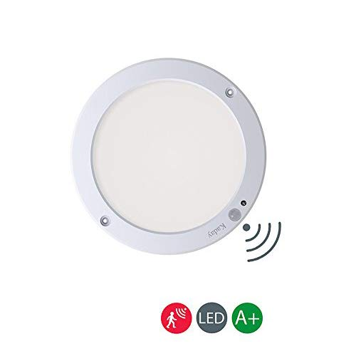 Kaday 18W Downlight LED Plafón con sensor de movimiento Lámpara de pared Techo Foco Empotrable,1200 LM,3000K Blanco cálido