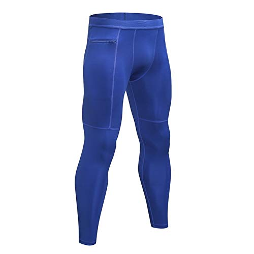 Loeay Mens Gym Jogger Pantalons Survêtement Jogging Leggings Running Pant Gym Fitness Zipper Maigre avec Zip Poches A2 XL