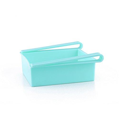 Nuevo refrigerador práctico diapositiva organizador de cocina nevera estante cajón de almacenamiento refrigerador estante titular (azul)