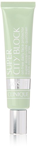 Clinique Super City Block, Oil-Free Daily Face and Skin Protector and Moisturizer, Broad Spectrum SPF 40 UVA/UVB Sun-Blocking Ingredients, Free of Parabens, Phthalates, and Sulfates, 1.4 Fl Oz