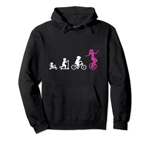 Einradfahrerin Evolution Artisten Zirkus Mädchen Einrad Pullover Hoodie