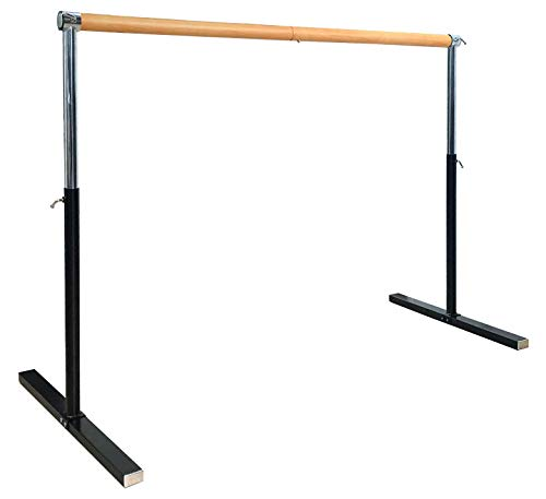 Artan Balance Ballet Barre Portable for Home or Studio, Freestanding or Wall Mount Adjustable Bar for Stretch, Pilates, Dance or Active Workouts, Single or Double (Square Single Bar 4FT)