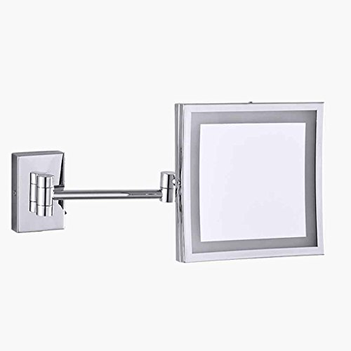 grossissement pliable du miroir de maquillage 10x avec la lumi/ère de LED Miroir de vanit/é portatif