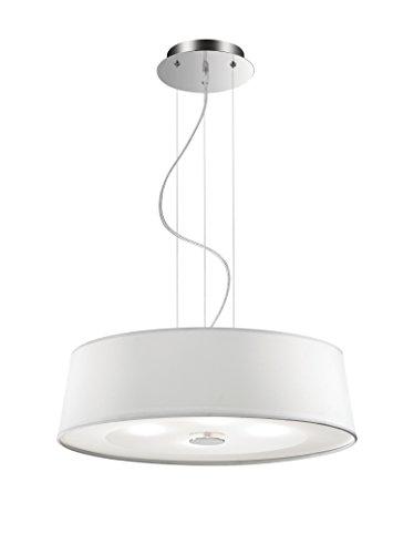 Ideal Lux Hilton SP4 Lampada a sospensione, Bianco