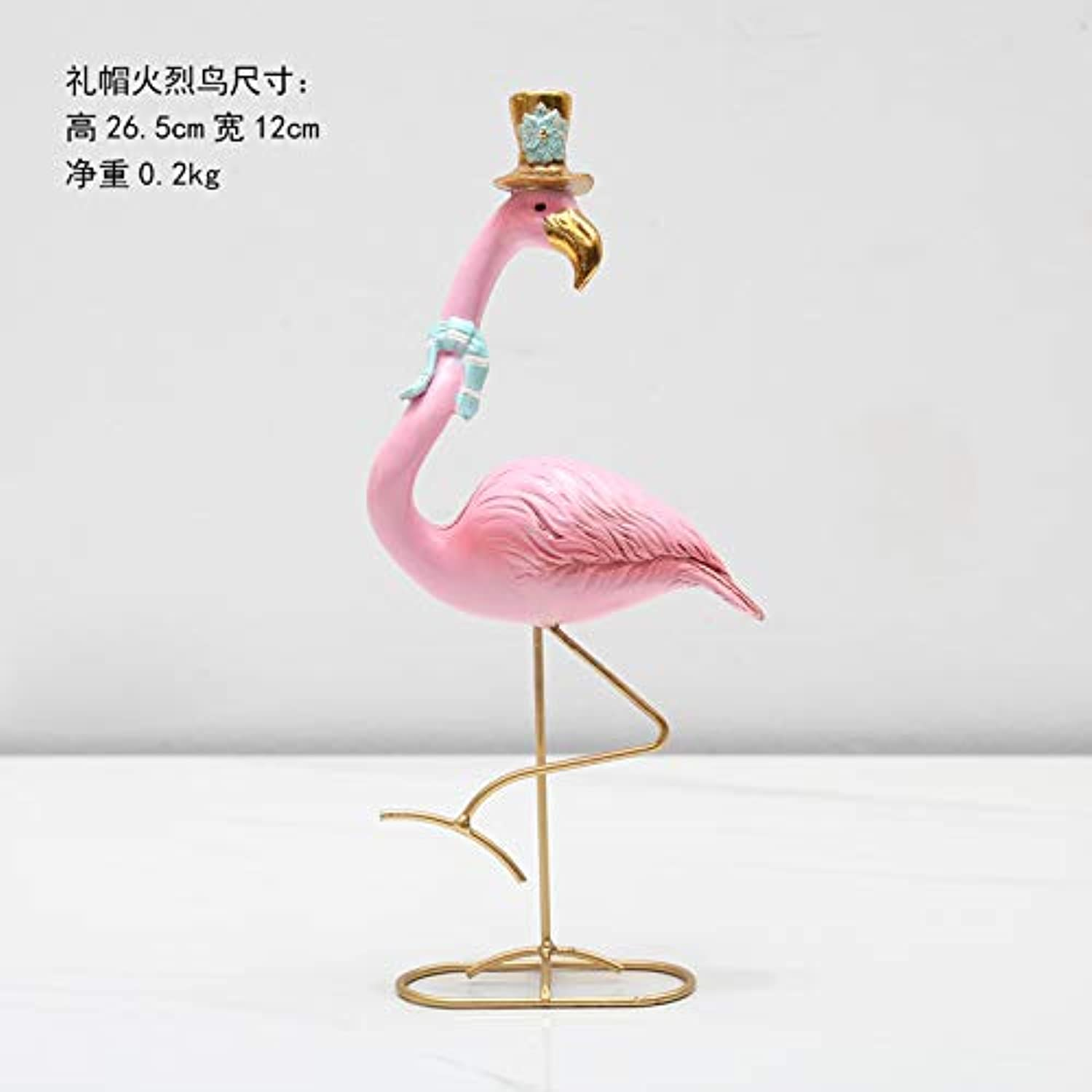 Mqlerry Office Gifts Desktop Resin Decorated Flamingo Creative Home Decoration Desktop Bedroom Living Room Display Gifts,I