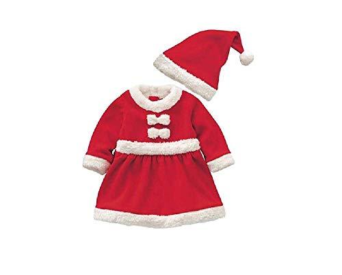Dueesse Vestito Natalizio Completo Bambina Neonata Babbo Natale 0/12 Mesi
