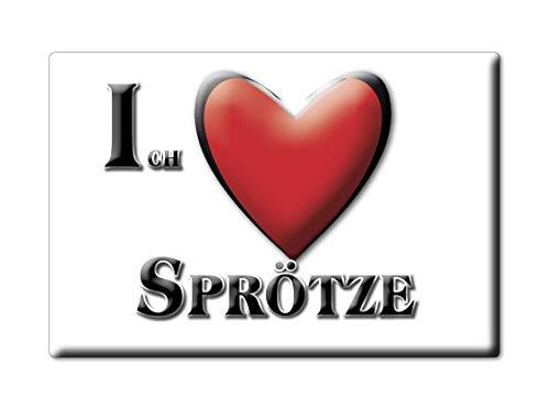 Enjoymagnets SPRÖTZE (NI) Souvenir Deutschland Niedersachsen Fridge Magnet KÜHLSCHRANK Magnet ICH Liebe I Love