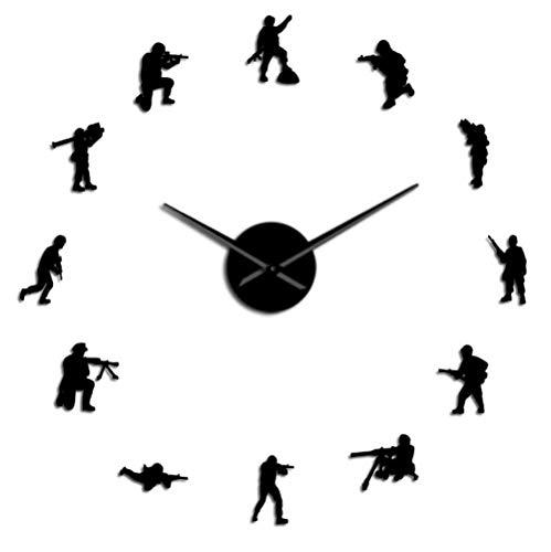 Reloj de pared acrílico Flying Dragon Mute Diy Wall Sticker Reloj de pared Decoración de la habitación de los niños Reloj de pared 30.5X61Cm