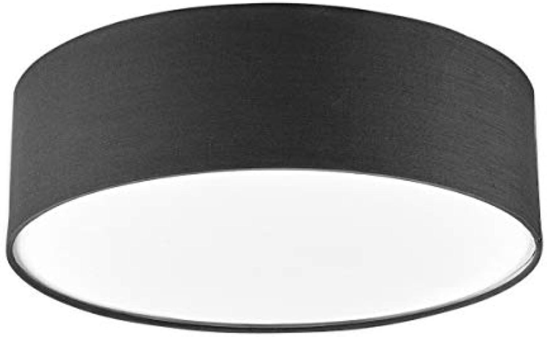 Lampenwelt Deckenlampe 'Sebatin' dimmbar (Modern) in Alu aus Textil u.a. für Schlafzimmer (3 flammig, E27, A++) - Deckenleuchte, Lampe, Schlafzimmerleuchte