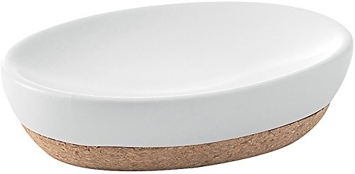 Gedy ilary Seifenschale, Keramik, weiß, 9,5x13x3