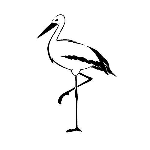SUIFENG Aufkleber 11.2 cm x 16.7 cm Mode Tier Reiher Wader Marsh Bird Langbein Vinyl Auto Aufkleber Windschutzscheibe Aufkleber