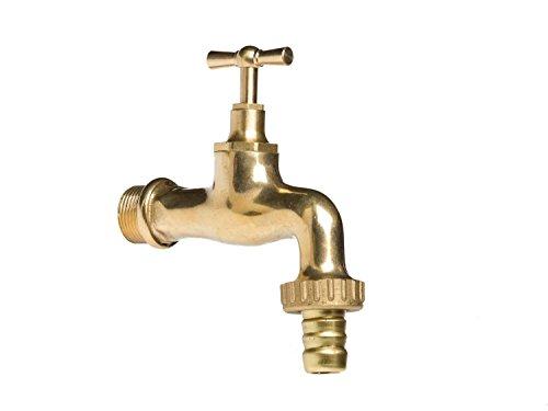 aubaho Wasserhahn Auslaufventil Messing 3/4 Zoll im antik Stil Garten Brunnen Faucet