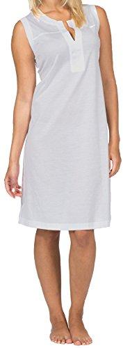 Hutschreuther Damen Nachthemd feinste leichte Baumwolle in kühlem Silber, Farbe:Silber;Grösse:S / 36