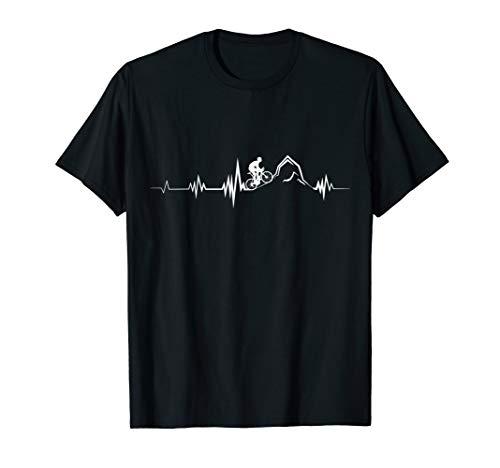 Cycling Heartbeat Racing Bicycle Mountain T-Shirt