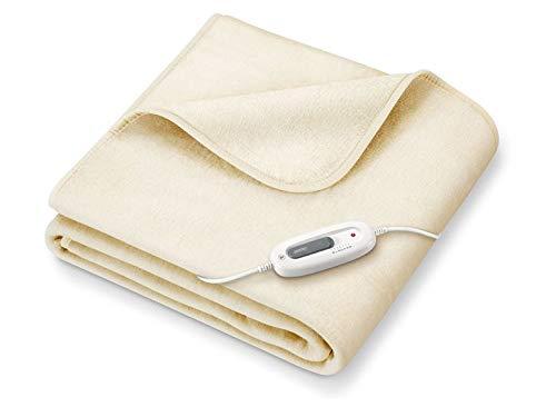 Sanitas SHD 71 Wärmezudecke Wärmeunterbett Heizdecke Wärmedecke besonders weich und kuschelig, 6 Temperaturstufen, 180 x 130 cm BEIGE