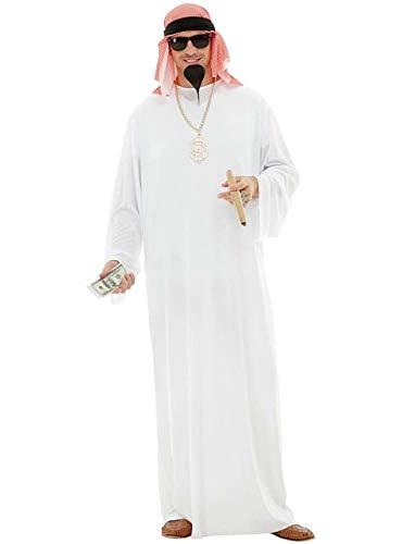 Funidelia | Disfraz de árabe para Hombre Talla S ▶ Jeque, Petróleo, Dinero - Blanco