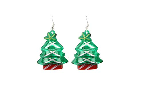 Novelty Party Flashing Christmas Tree Earrings From CGB Giftware's 'Joy to the World' Collection | Perfect for Christmas Parties! | Batteries Included | GB03501