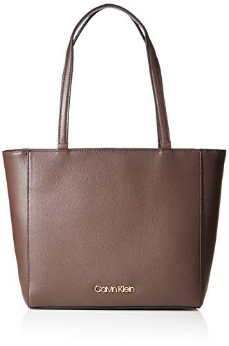 Calvin Klein Tote, Bolso para Mujer, Pizarra Marrón, One Size