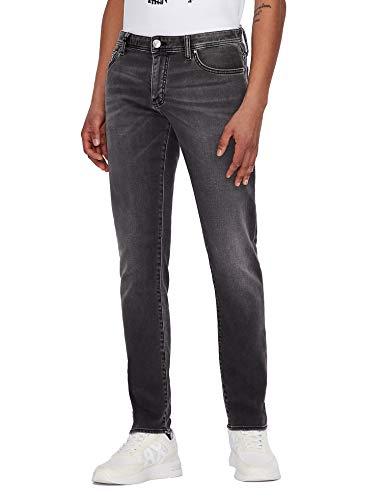 Armani Exchange Grey Denim Jeans Hombre