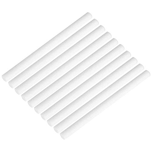 Briskyloom Humidifier Sticks Cotton Filter Sticks Refill Sticks Filter Replacement Wicks for Portable Personal USB Powered Humidifier 7x135mm (10pcs)
