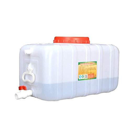 Tanque De Agua Plástico Portátil Al Aire Libre con El Cucharón De Almacenamiento del Depósito del Grifo del Agua con La Tapa del Recipiente De Agua De Gran Capacidad De La Tapa.