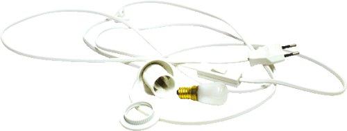 alles-meine.de GmbH Kabel mit Fassung, Schalter und Glühbirne 15 Watt für Holz Bastelsets z.B. Laubsägearbeiten Laternen, Fensterbilder, u.v.m.